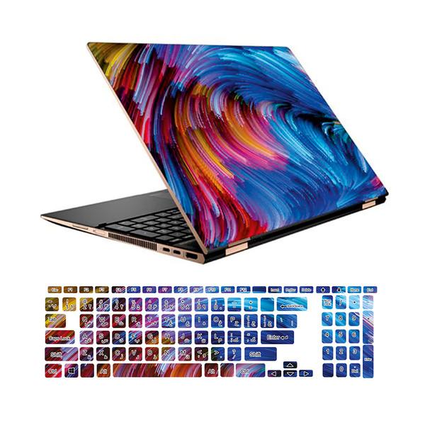 استیکر لپ تاپ طرح colors کد 01 مناسب برای لپ تاپ 15.6 اینچ به همراه بر چسب حروف فارسی کیبورد