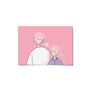 کارت پستال ماسا دیزاین طرح عشق کد postv174