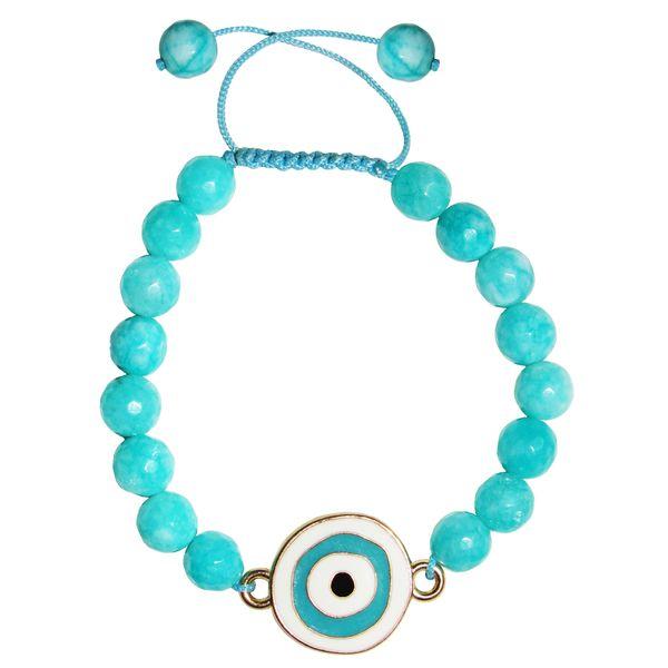 دستبند زنانه طرح چشم نظر کد A02