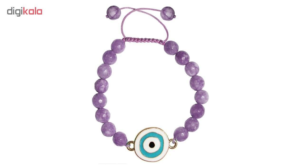 دستبند زنانه طرح چشم نظر کد A02 main 1 3
