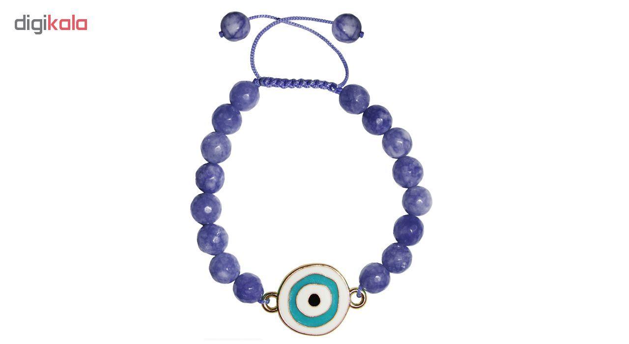 دستبند زنانه طرح چشم نظر کد A02 main 1 4