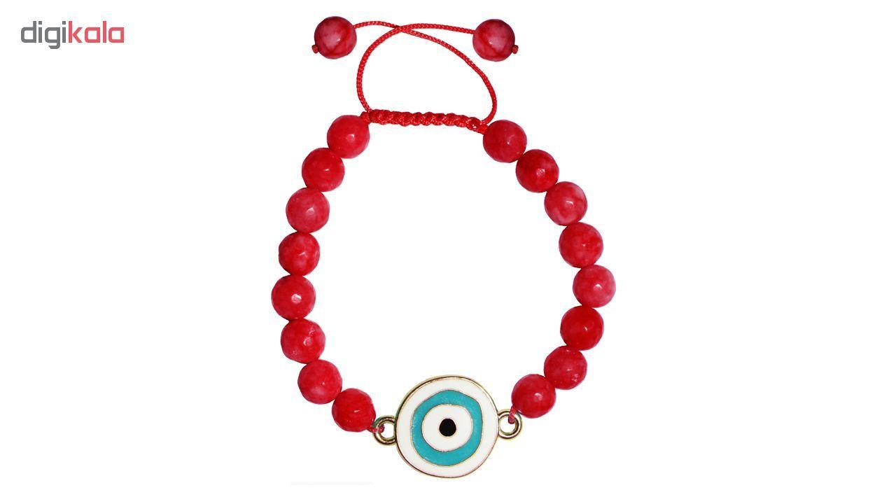 دستبند زنانه طرح چشم نظر کد A02 main 1 5
