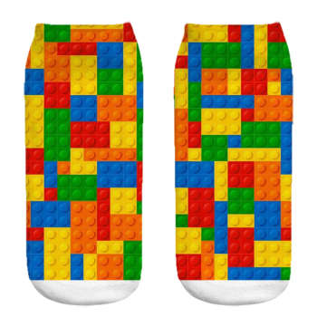 جوراب زنانه طرح  Lego کد 1096