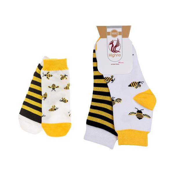 جوراب هاینو طرح زنبوری مدل مادر و کودک مجموعه 2 عددی
