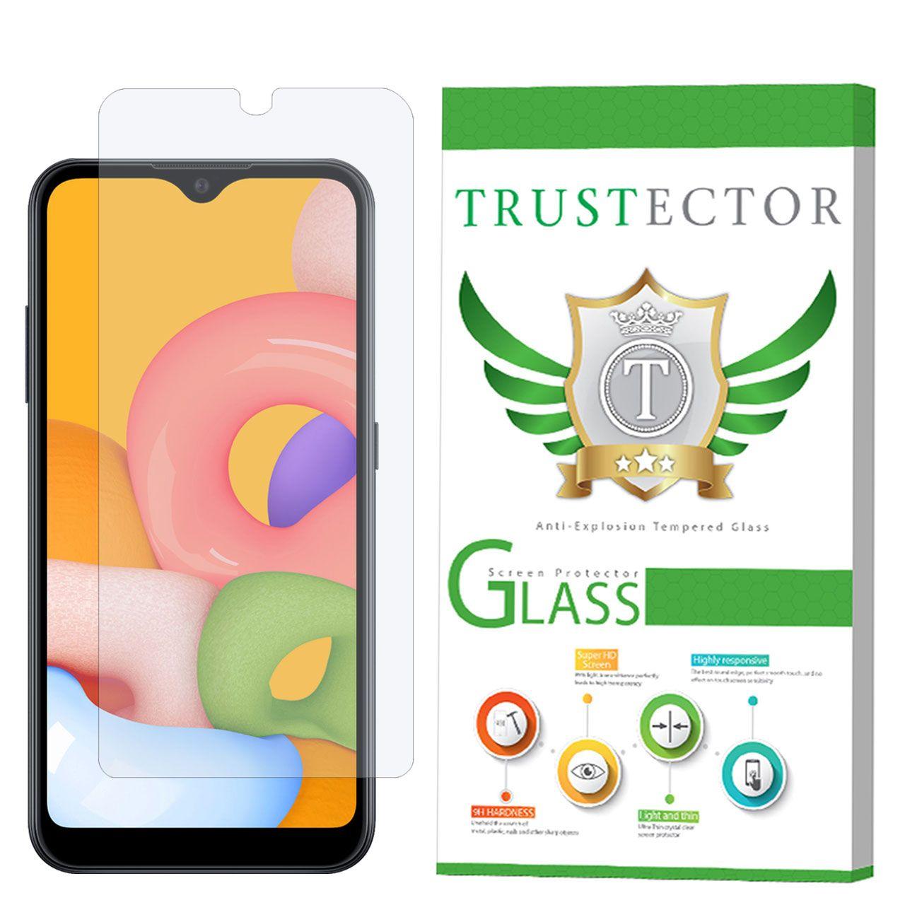 محافظ صفحه نمایش تراستکتور مدل GLS مناسب برای گوشی موبایل سامسونگ Galaxy A01