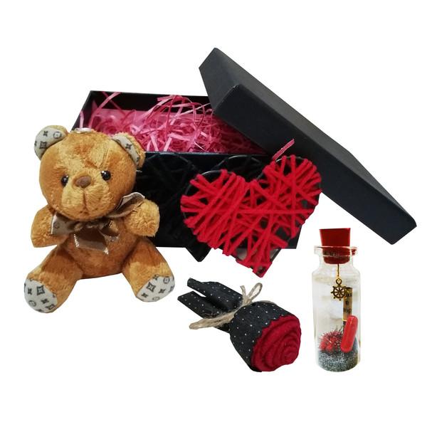 ست هدیه عروسک طرح خرس کد 60