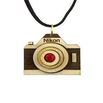 گردنبند گالری عزیزی طرح دوربین عکاسی  مدل GZ98440