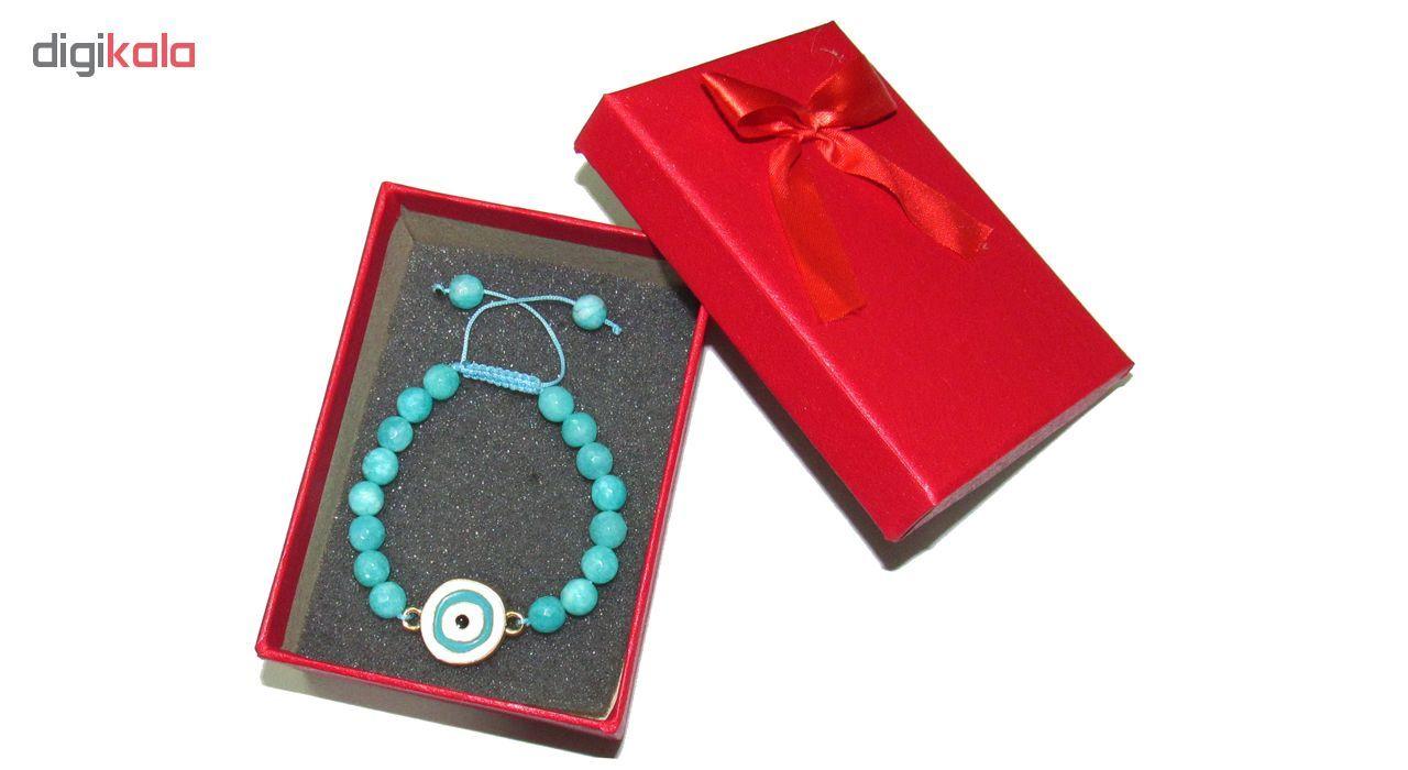 دستبند زنانه طرح چشم نظر کد A02 main 1 1