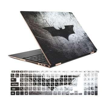 استیکر لپ تاپ طرح Batman کد 01 مناسب برای لپ تاپ 15.6 اینچ به همراه بر چسب حروف فارسی کیبورد
