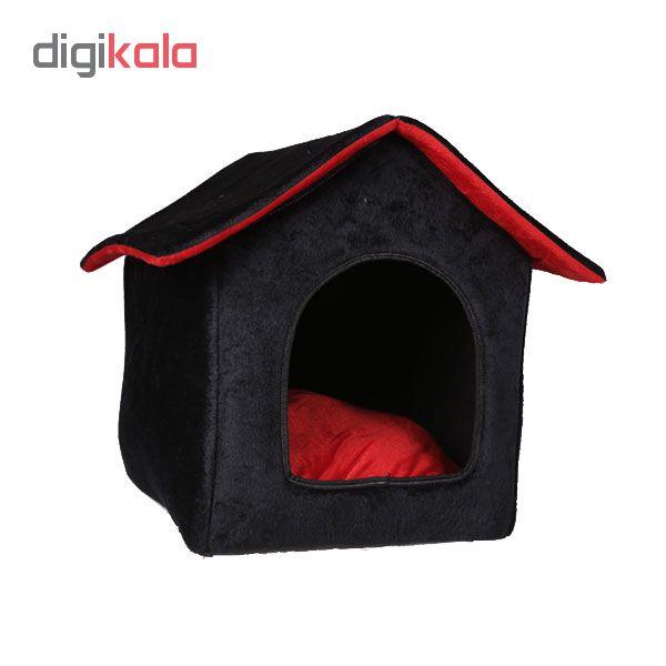 خرید                      جای خواب سگ و گربه طرح کلبه