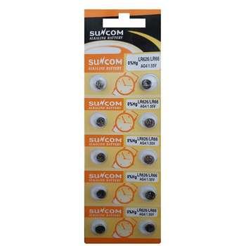 باتری سکه ای سانکام مدل AG4 بسته 10 عددی