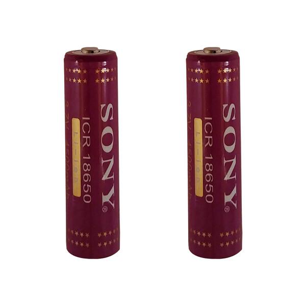 باتری لیتیوم-یون قابل شارژ سونی کد ICR-18650 ظرفیت 4500 میلی آمپرساعت بسته 2 عددی