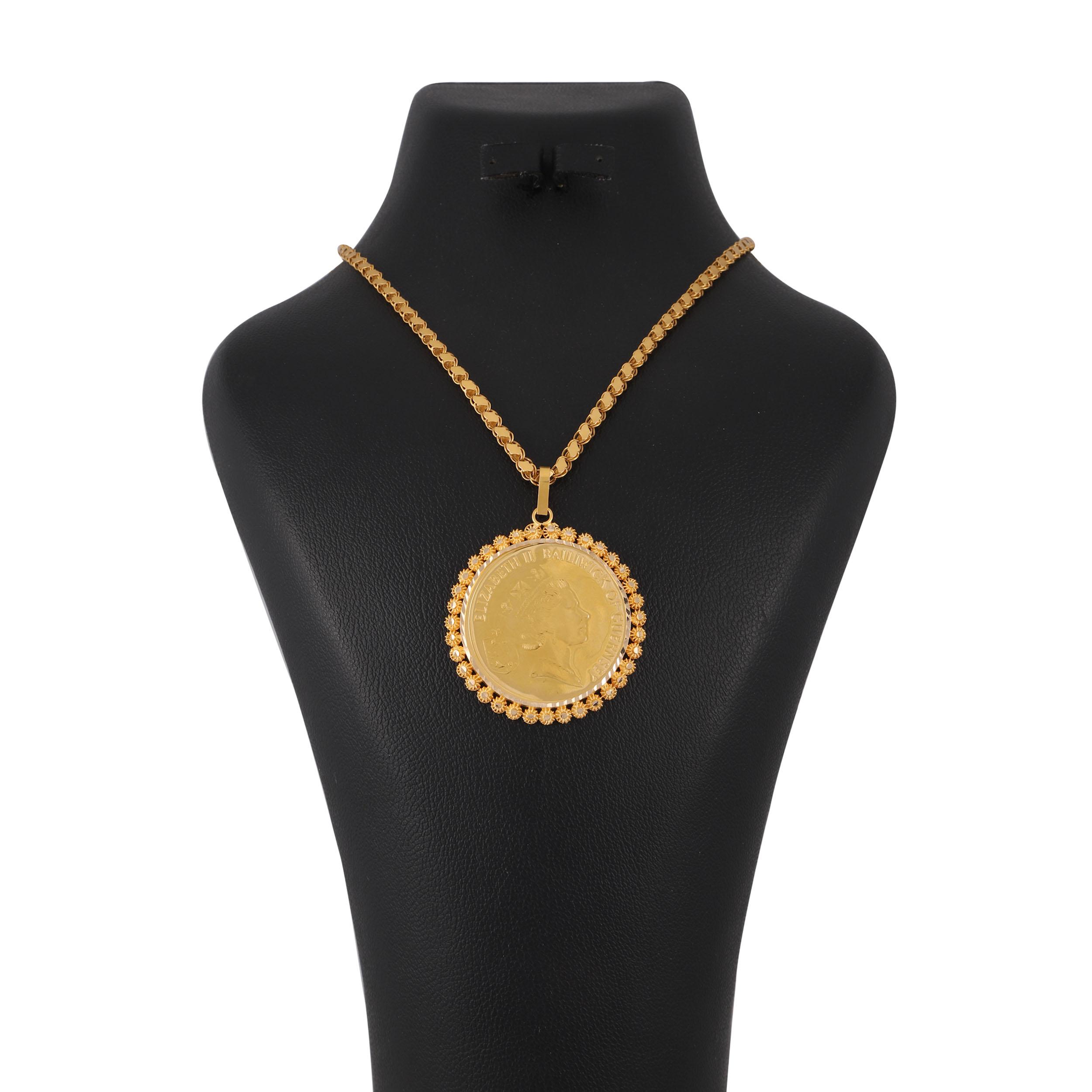 گردنبند طلا 18 عیار زنانه کد G575