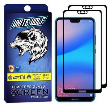 محافظ صفحه نمایش وایت ولف مدل WGF مناسب برای گوشی موبایل هوآوی  P20 Lite بسته 2 عددی