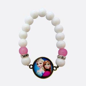دستبند دخترانه طرح السا و آنا