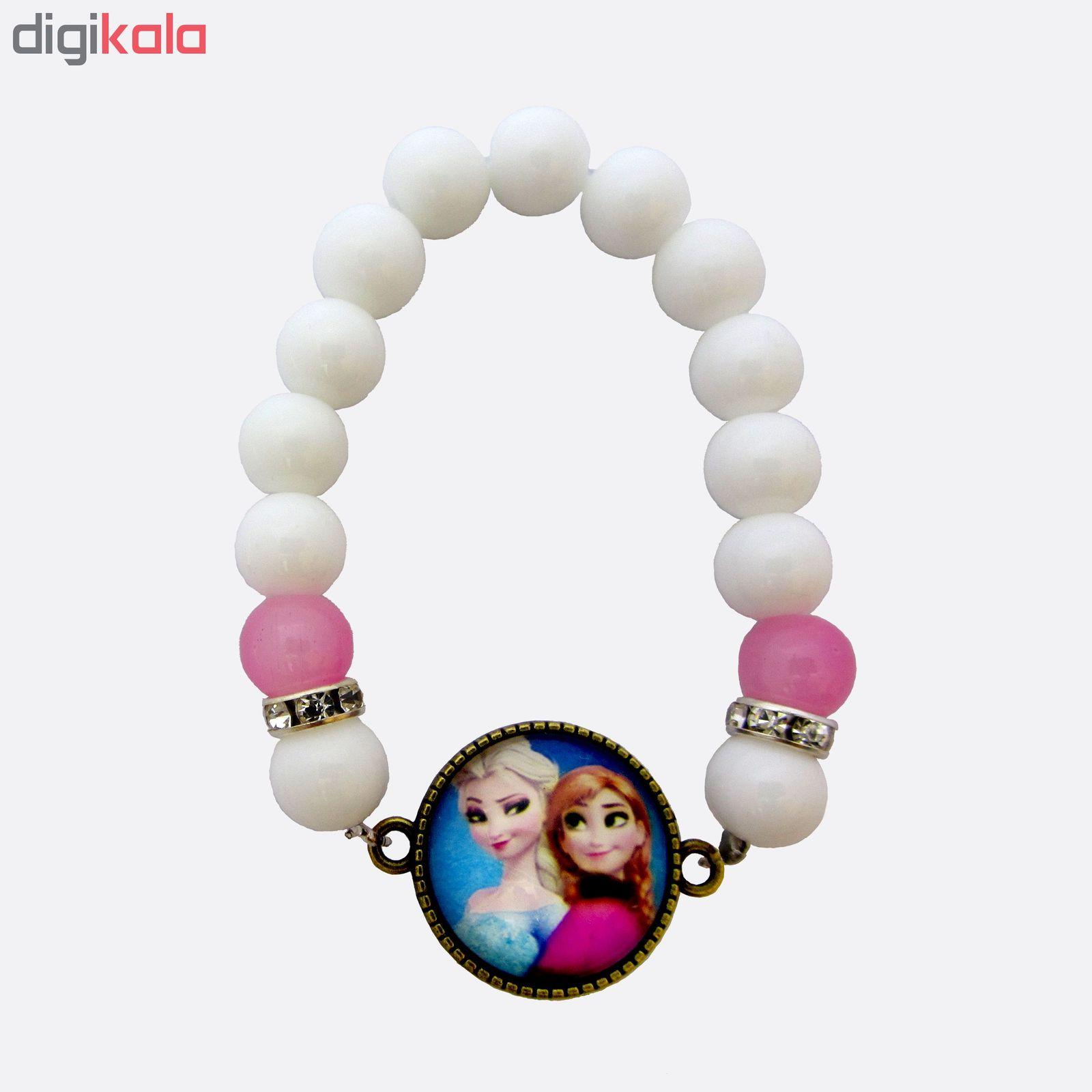 دستبند دخترانه طرح السا و آنا main 1 1
