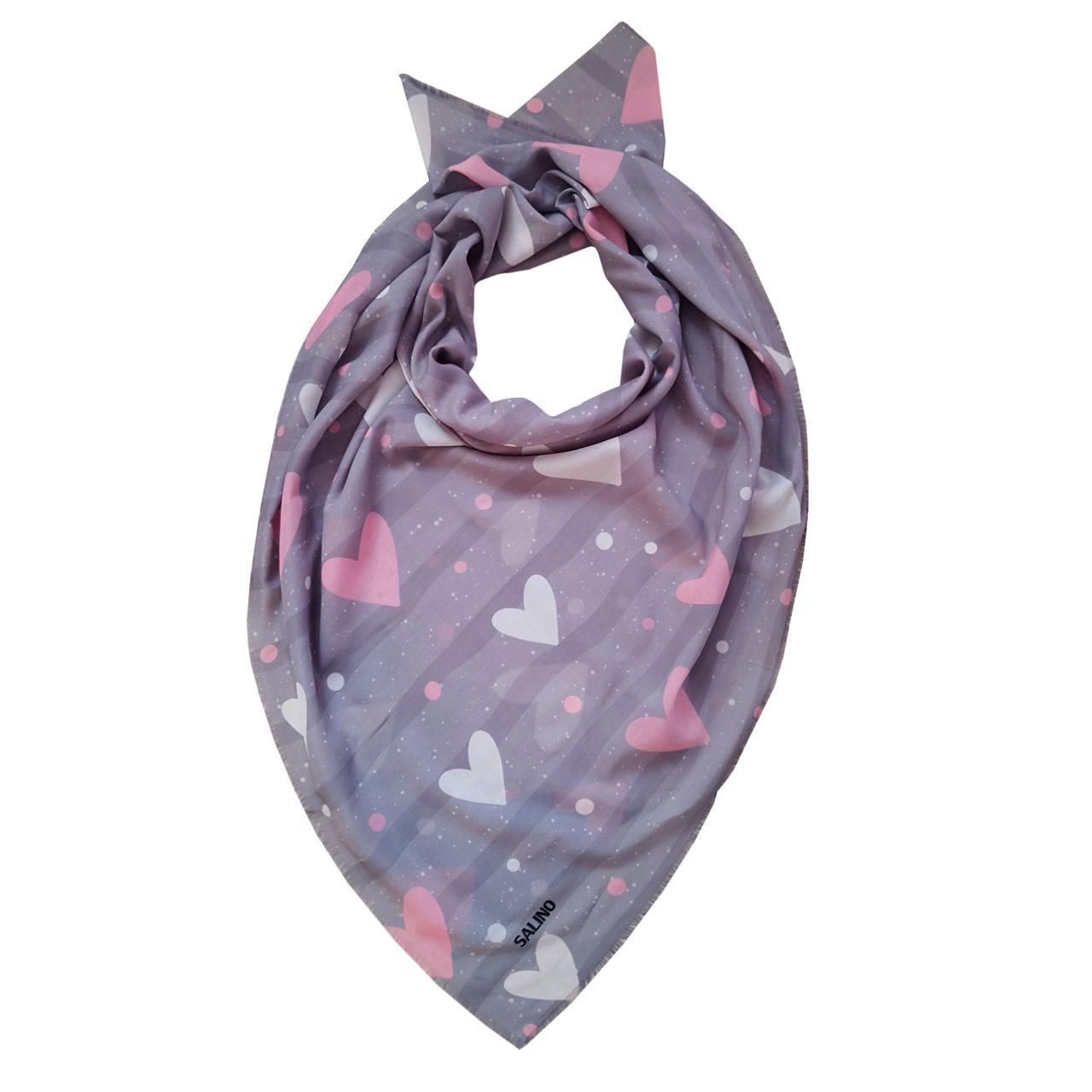 Photo of روسری زنانه سالینو طرح قلب کد SAL03