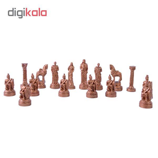 مهره شطرنج چوبی کد 104 مجموعه ۳۲ عددی