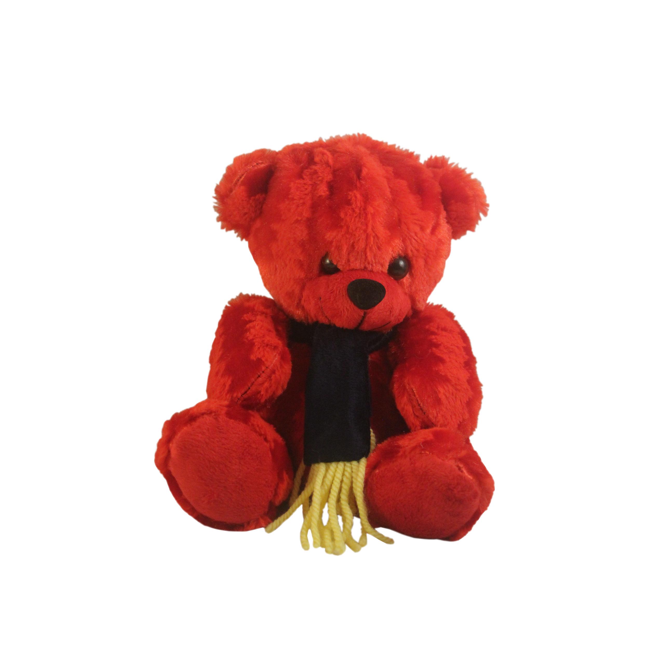 عروسک طرح خرس خندان مدل Scarf 12 ارتفاع 20 سانتی متر