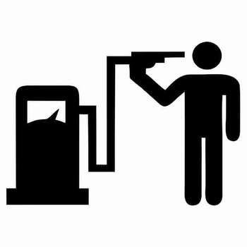 برچسب بدنه خودرو طرح باک بنزین کد 42