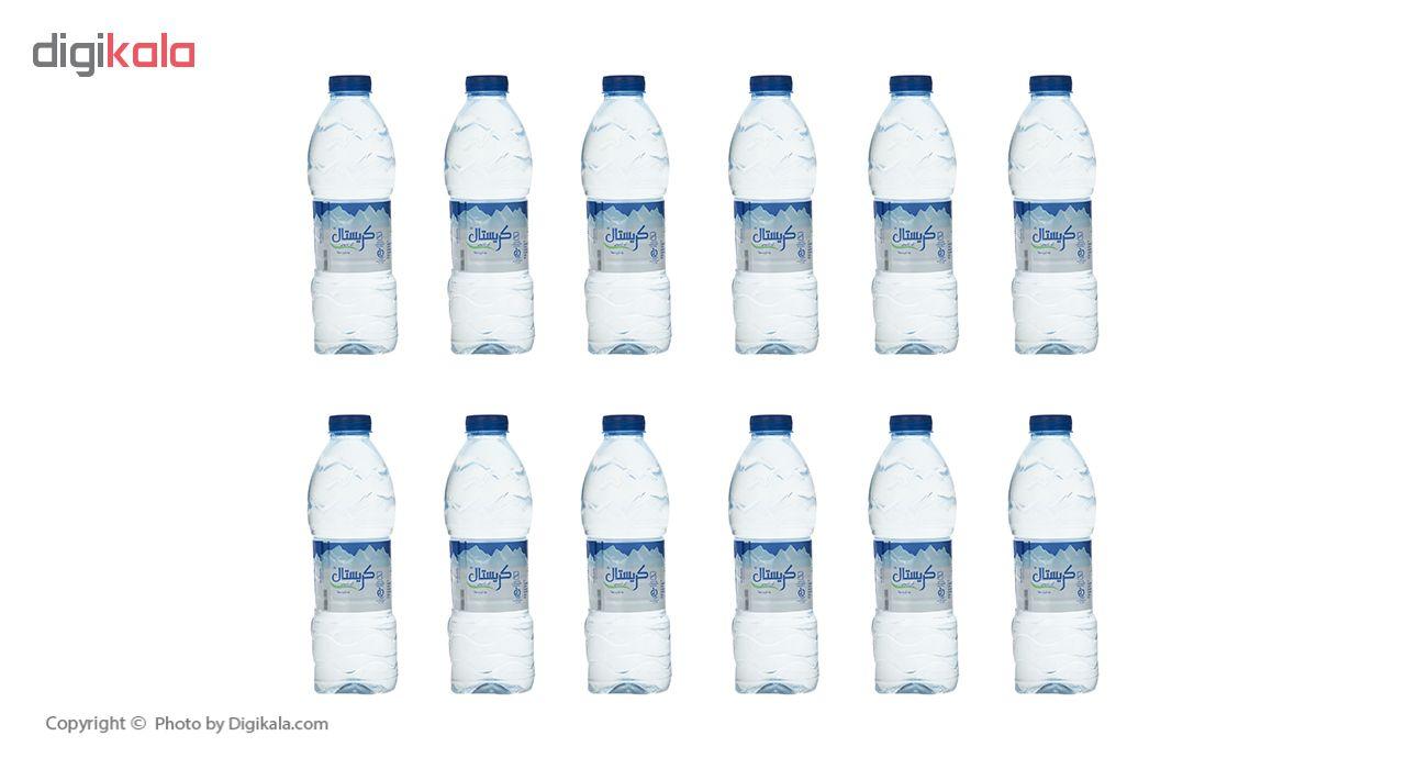 آب معدنی کریستال  حجم 500 میلی لیتر بسته بندی 12 عددی