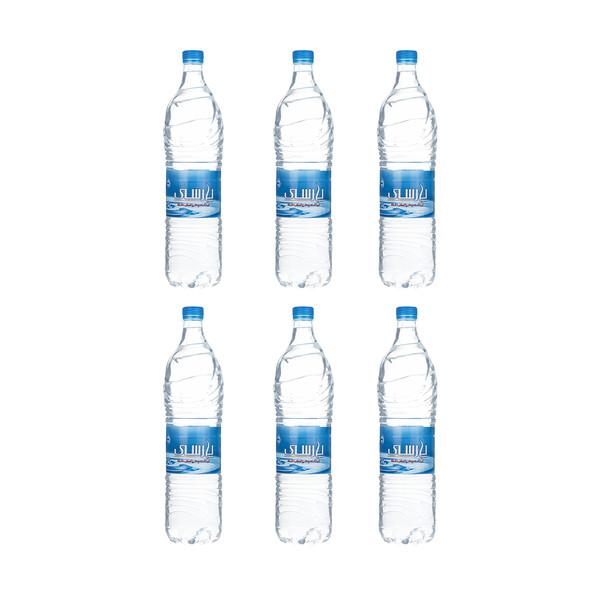 آب آشامیدنی تصفیه شده پارسی مقدار 1.5 لیتر بسته 6 عددی