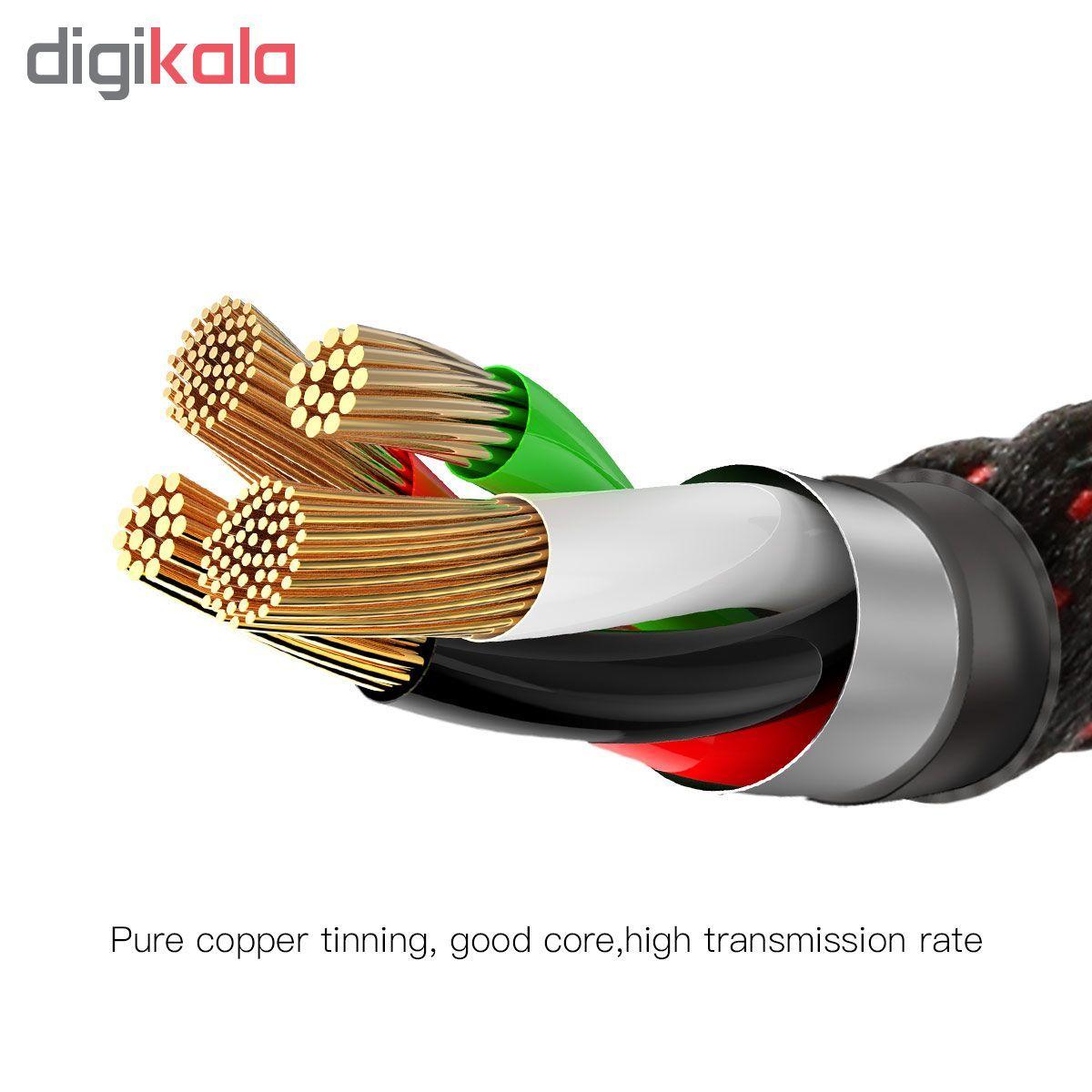 کابل تبدیل USB به لایتنینگ باسئوس مدل CALCD-01 طول 1 متر main 1 4