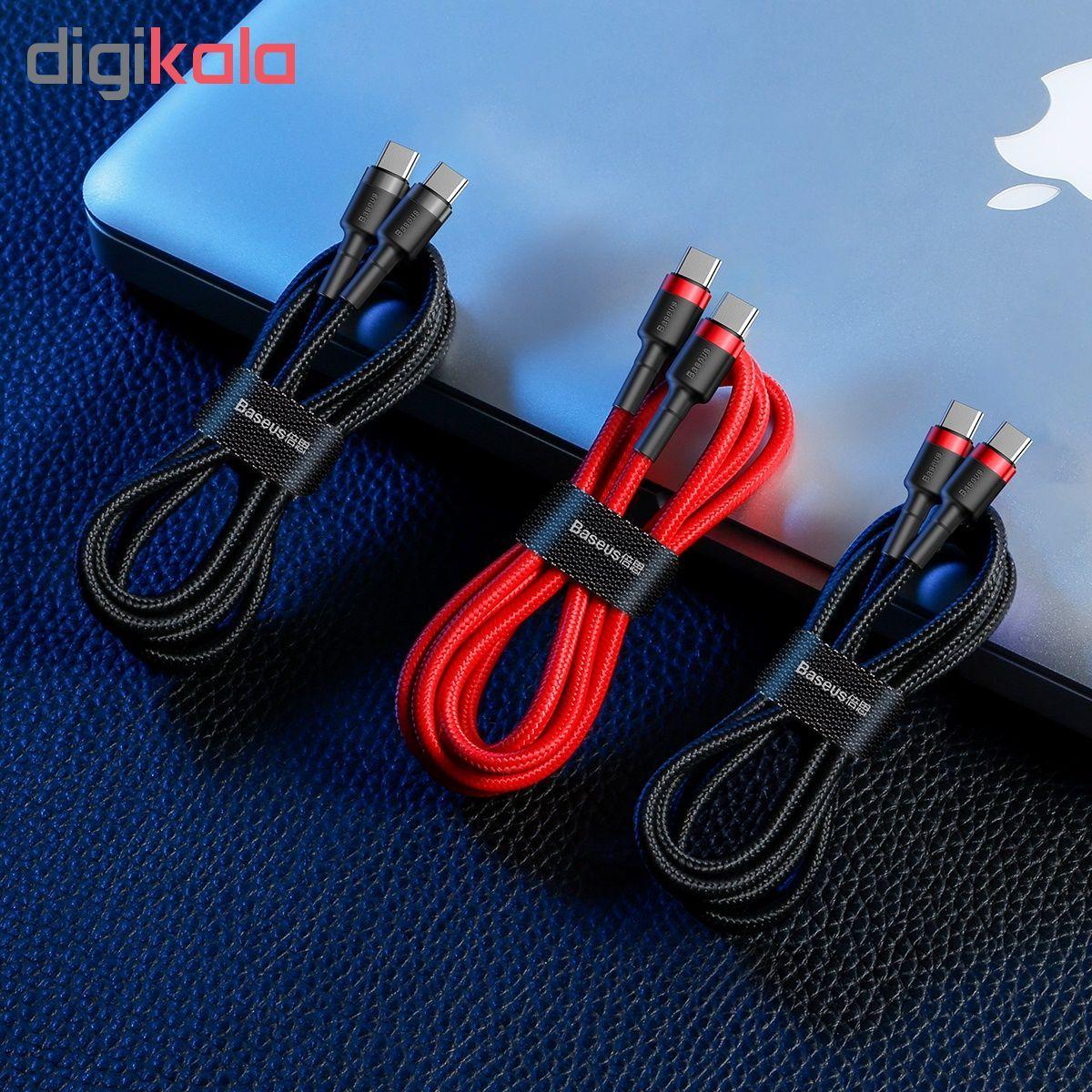 کابل USB-C باسئوس مدل CATKLF-H91 طول 2 متر main 1 5