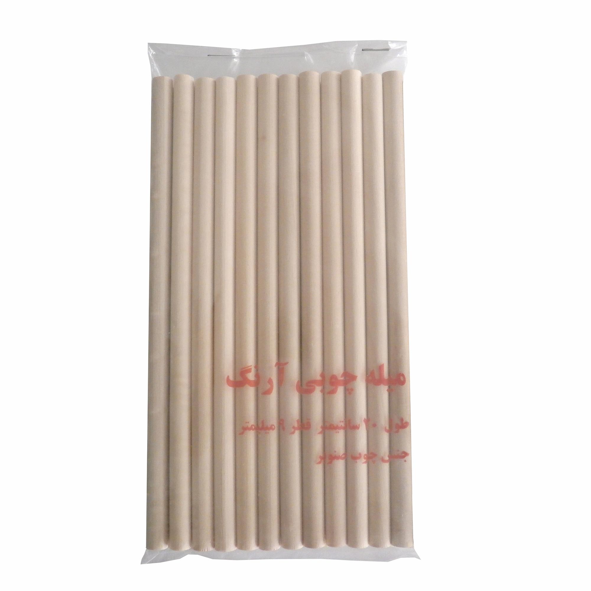 قیمت خرید میله چوبی آرنگ مدل GRD2009_25 بسته 25 عددی اورجینال