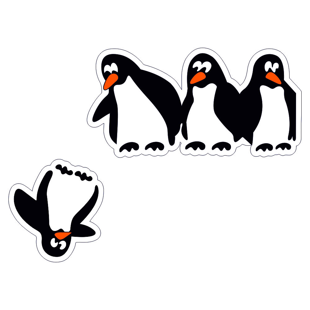 استیکر فراگراف کلید و پریز FG طرح پنگوئن