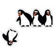 استیکر کلید و پریز مستر راد طرح پنگوئن thumb 1