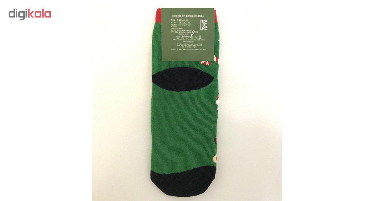 جوراب دخترانه طرح کریسمس کد vi125