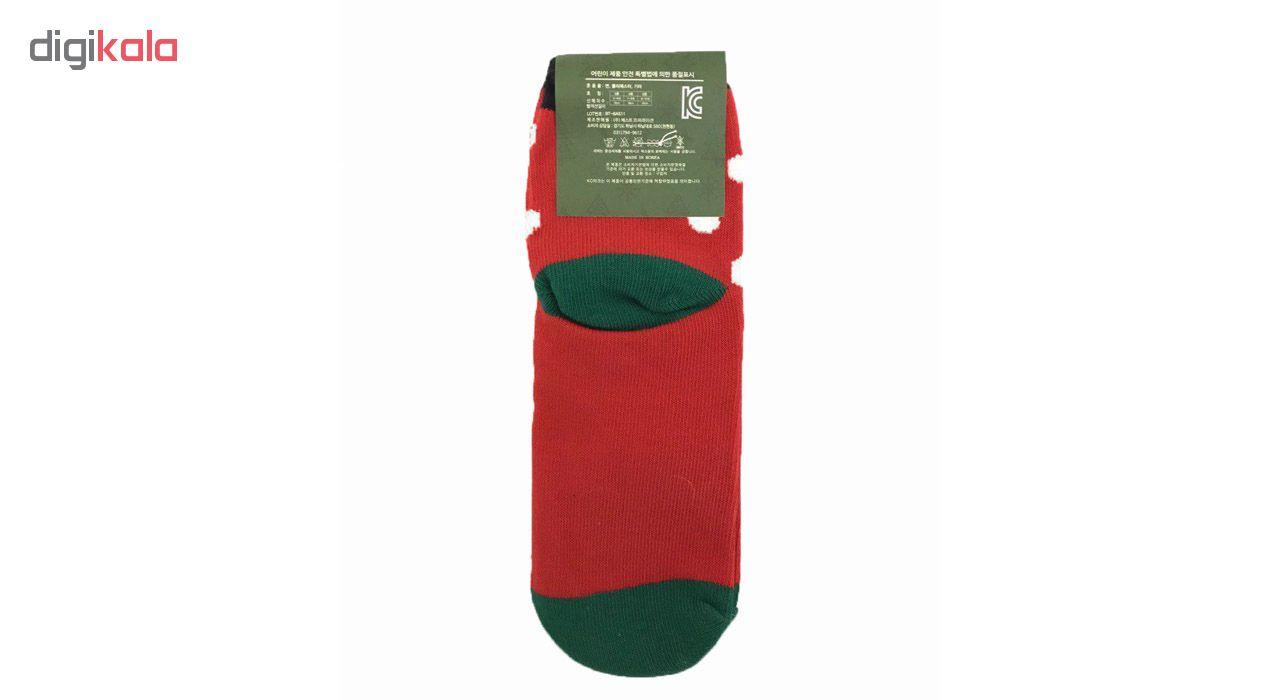 جوراب دخترانه طرح کریسمس کد vi126