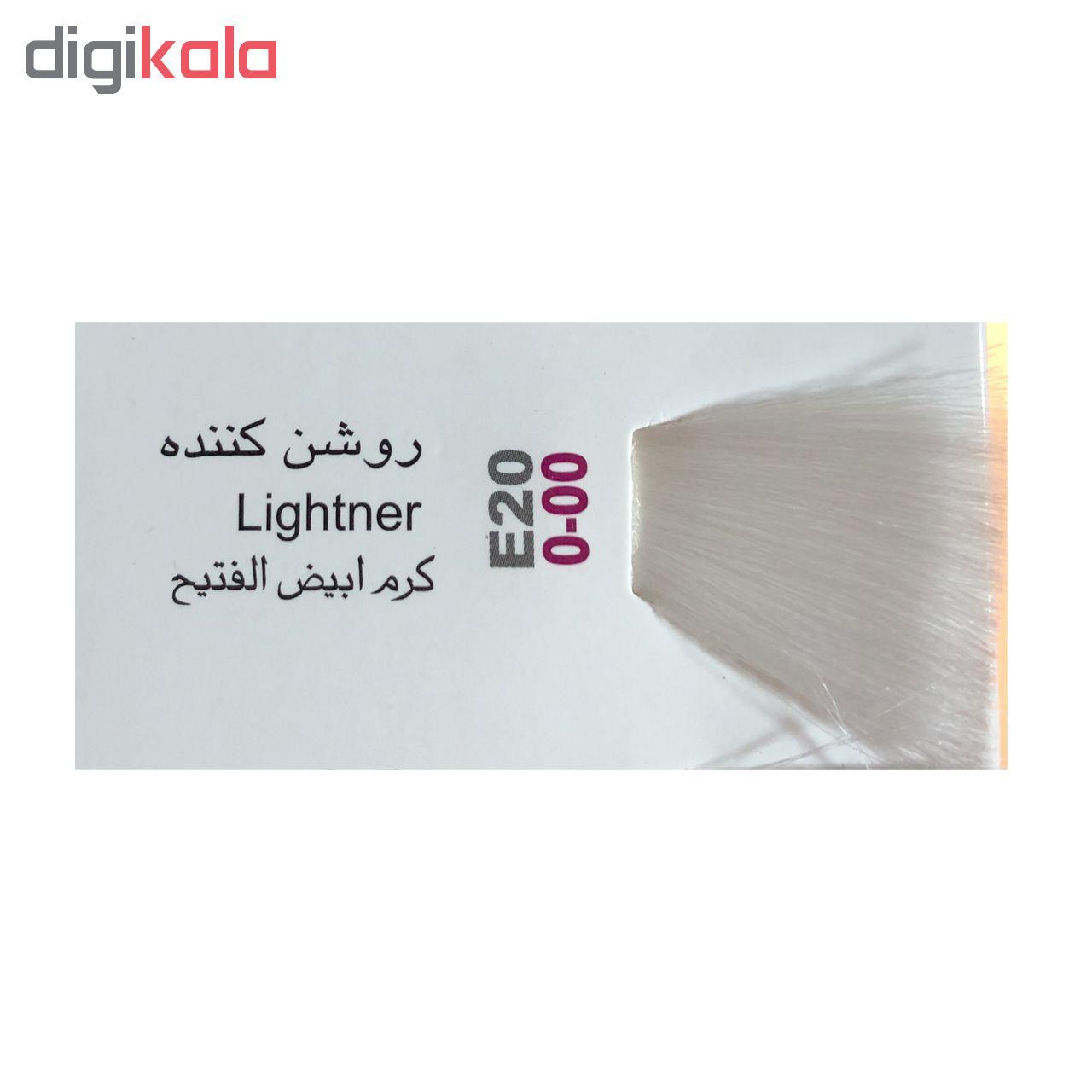 رنگ مو پادینا شماره E20-0-00 حجم 100 میلی لیتر رنگ روشن کننده