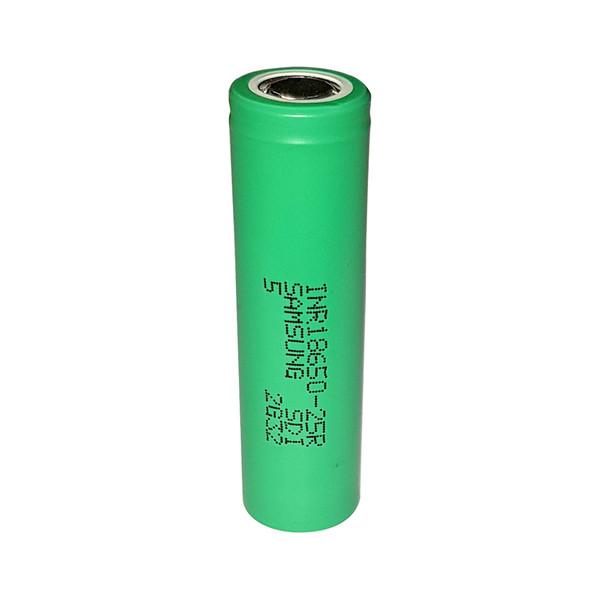 باتری لیتیوم یون قابل شارژ سامسونگ کد 18650 ظرفیت 2500 میلی آمپر ساعت