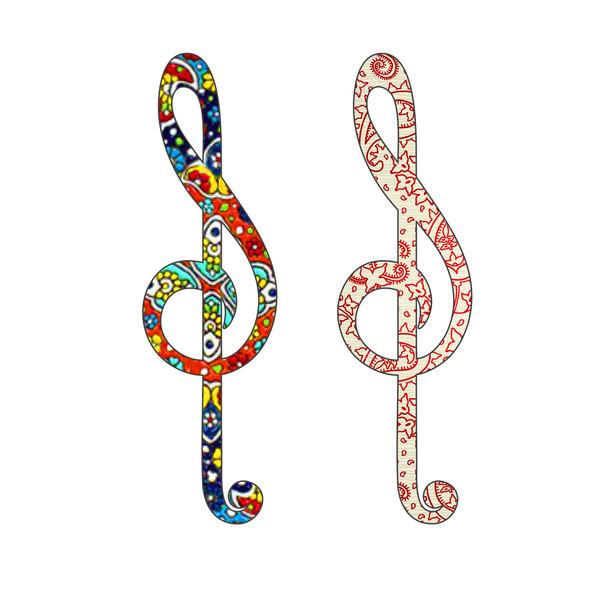 نشانگر کتاب لوکسینو مدل نت موسیقی کد FP_1 بسته 2 عددی
