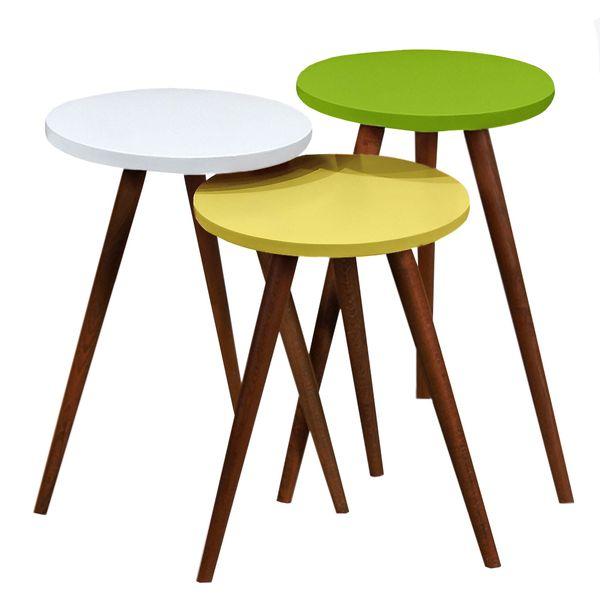 میز عسلی مدل 456 کد 17 مجموعه 3 عددی