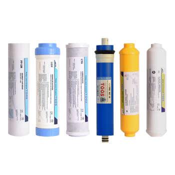 فیلتر دستگاه تصفیه کننده آب پالایه سازان فرآیند توس مدل RO بسته 6 عددی