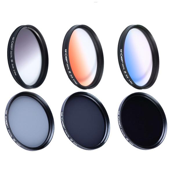 ست فیلتر کی اند اف مدل KF62 مناسب برای لنز دوربین 62 میلی متری مجموعه 6 عددی