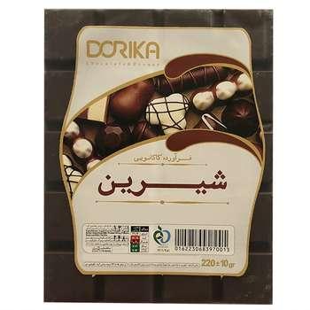 شکلات با طعم شکلات شیرین دوریکا مقدار 220 گرم