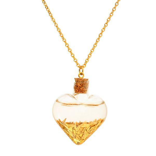 گردنبند طلا 24 عیار زنانه طرح قلب کد 1342