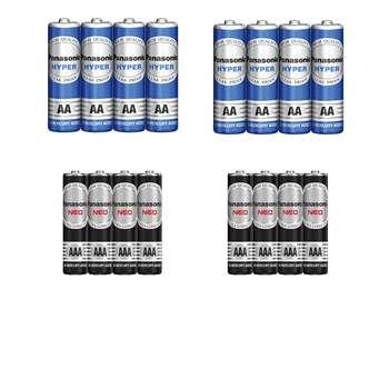 باتری قلمی و نیم قلمی پاناسونیک کد ۰۱ بسته ۱۶ عددی