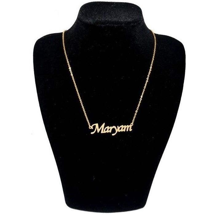 گردنبند طلا 18 عیار زنانه زرلوکس طرح اسم مریم کد zar08