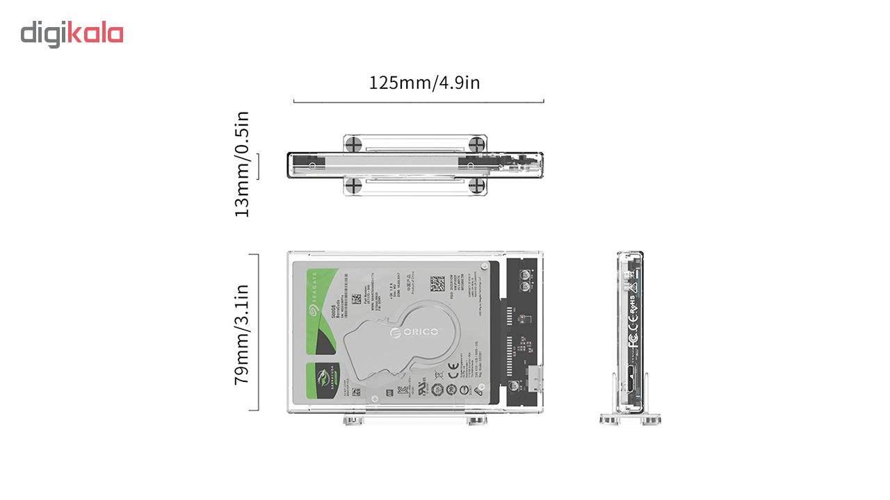 قاب SSD و هارد USB3.0 اوریکو مدل 2159U3 main 1 5