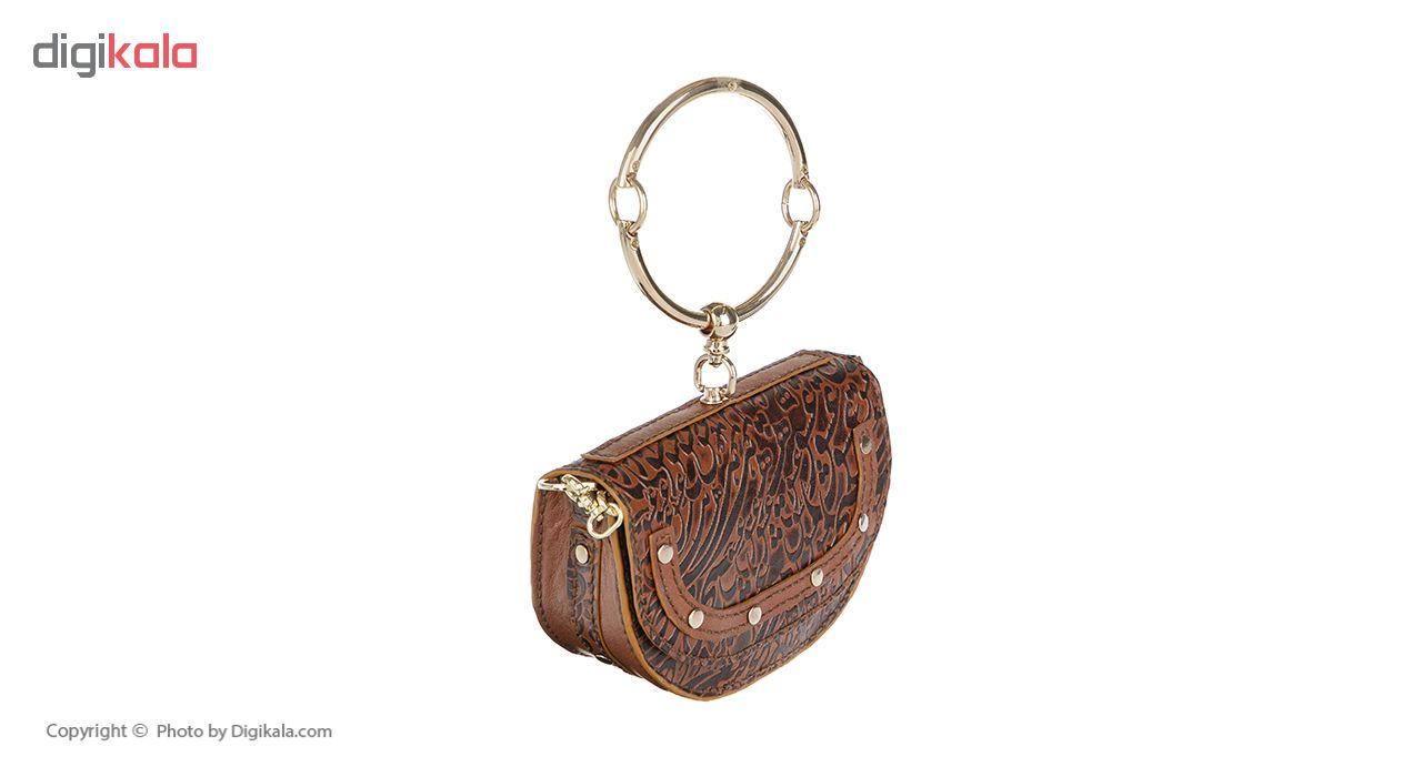 کیف رودوشی چرمی مدل B105 کد 1 به همراه کیف کوچک
