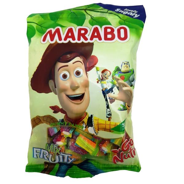 پاستیل لقمه ای شکری میوه ای مارابو مقدار 100 گرم
