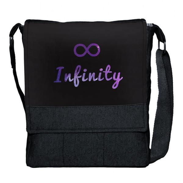 کیف دوشی دخترانه گالری چی چاپ طرح infinity کد 65754