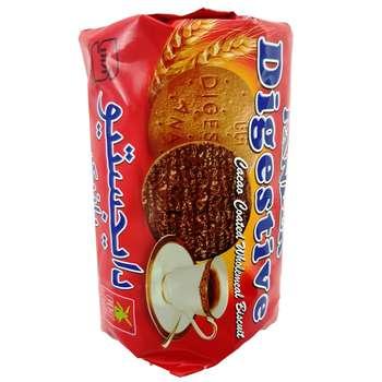 بیسکویت دایجستیو سبوس دار با روکش کاکائو آناتا مقدار 220 گرم