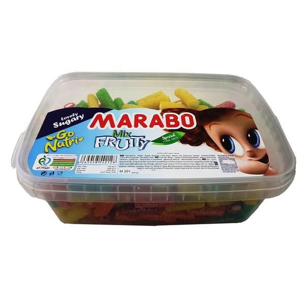 پاستیل لقمه ای شکری میوه ای مارابو مقدار 800 گرم