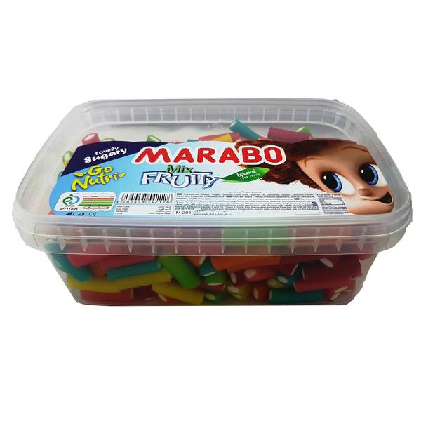 پاستیل لقمه ای میوه ای مارابو مقدار 800 گرم